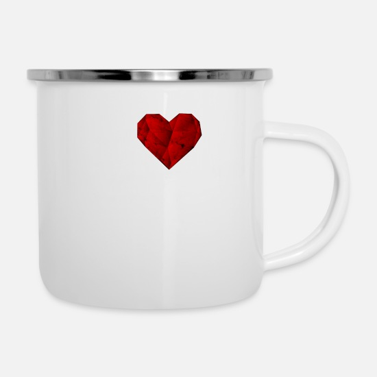 Love Mugs & Drinkware - i love dortmund heart gift - Enamel Mug white