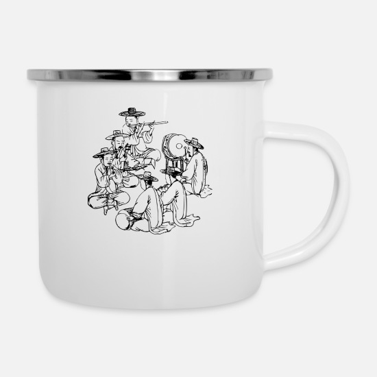 Band Mugs & Drinkware - Band Asian - Enamel Mug white
