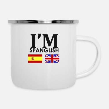 Spanish Spanish + English = - Enamel Mug