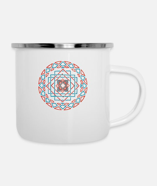Mandala Mugs & Drinkware - Seeking the Truth - Enamel Mug white
