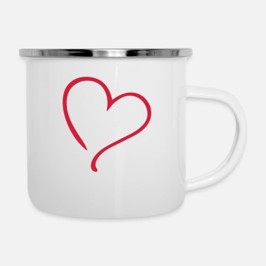 Tlc Heart Love - Enamel Mug