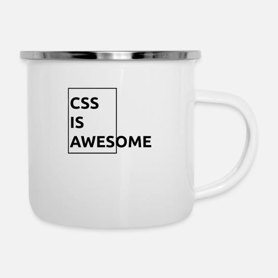 Css Mugs et récipients - CSS is Awesome - Mug émaillé blanc