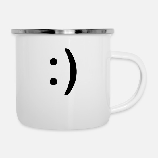 Gift Idea Mugs & Drinkware - Smile - Enamel Mug white