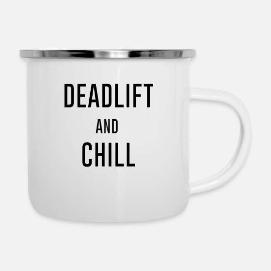 Deadlift Mugs & Drinkware - Deadlift - Enamel Mug white