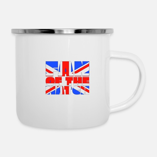 Fan Article Mugs & Drinkware - Fan of the match - Enamel Mug white