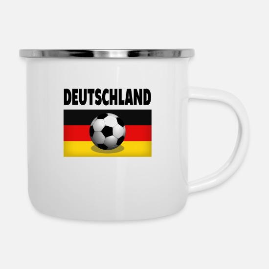 Stadium Mugs & Drinkware - Stadium, Beer, Germany, Germany, Football, Foot - Enamel Mug white