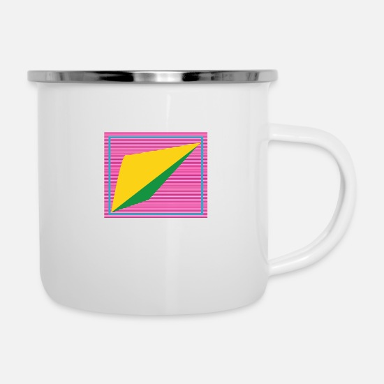 Form Mugs & Drinkware - Retro form - Enamel Mug white