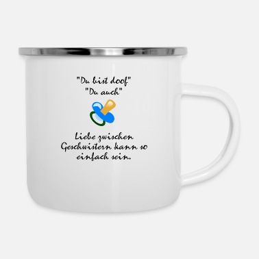 Siblings Siblings love - Enamel Mug