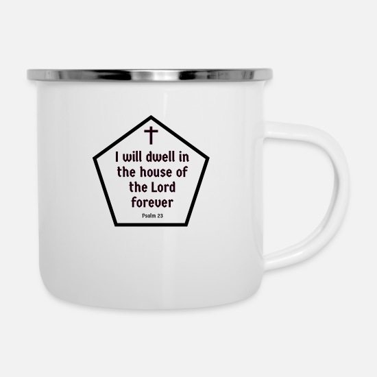 You Mugs & Drinkware - Paradise God Believe Bible Jesus Christ Christ - Enamel Mug white