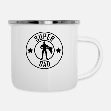Super Super Dad - Dad of the Year - Emaille-Tasse