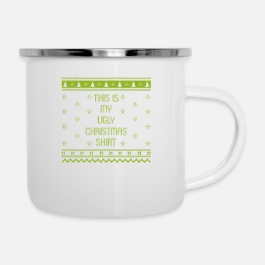 Christmas Ugly Christmas Gift Advent Knitwear - Enamel Mug