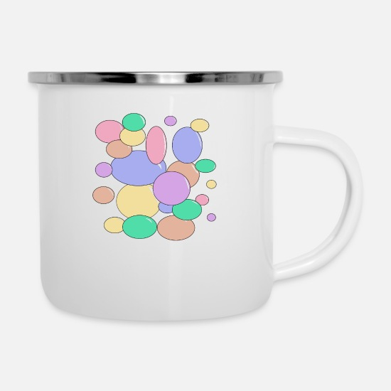 Speech Balloon Mugs & Drinkware - Bubbles bubbles balloons - Enamel Mug white