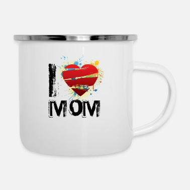 I Love I love mom uk - Enamel Mug