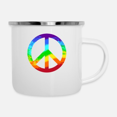 Occupy Signe de la Paix Rainbow Tolerance Peace Graffiti - Tasse émaillée