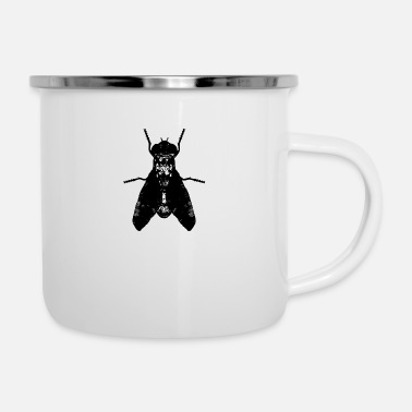 Fly Insect insect fly artistic - Enamel Mug