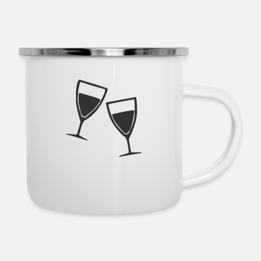 Glass Champagne glasses or wine glasses - Enamel Mug
