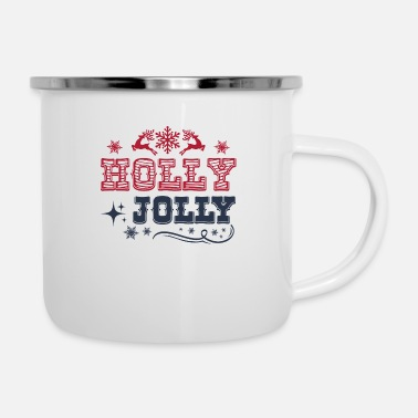 Holly holly jolly - Emaille-Tasse