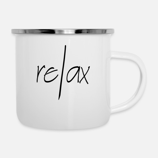 Sleep Mugs & Drinkware - Relax - Enamel Mug white