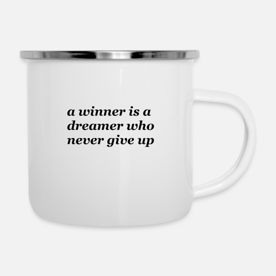 Help Mugs & Drinkware - winner quotes - Enamel Mug white