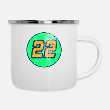 Number 22 T-Shirt Washed out design - Enamel Mug