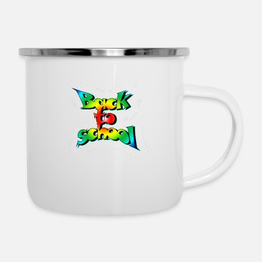 Back To School Old school back to school - Enamel Mug