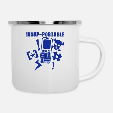 Mobile Phone unbearable mobile phone phone - Enamel Mug