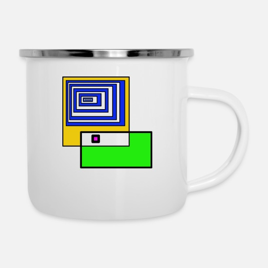 Psyche Mugs & Drinkware - Forms Hypnosis Mindset Psychology - Enamel Mug white