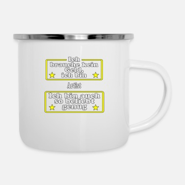 Popular Artist is popular - Enamel Mug