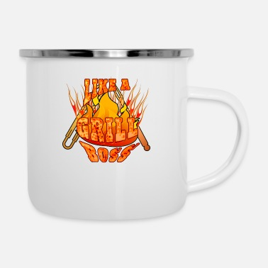 Like A Boss Like a grill boss hot - Emaille-Tasse