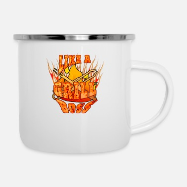 Like A Boss Like a grill boss tasty - Emaille-Tasse
