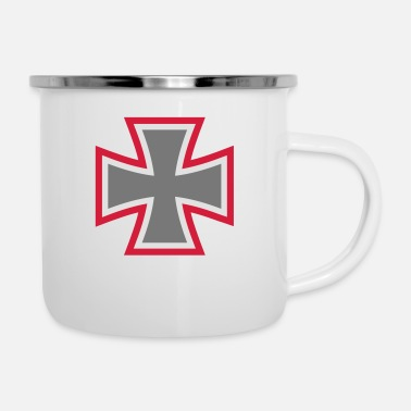 Ironia Iron Cross - Tazza smaltata