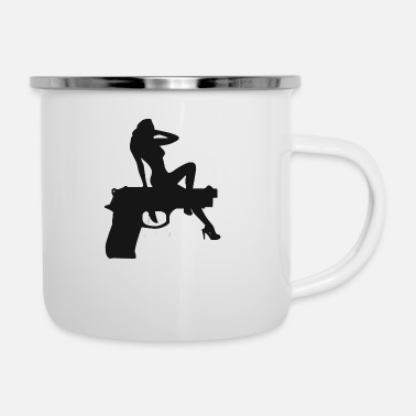 Strip gungirl - Emaille-Tasse
