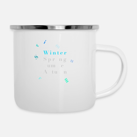 Wintersport Tassen & Becher - Winter –Seasons – Poster - Emaille-Tasse Weiß