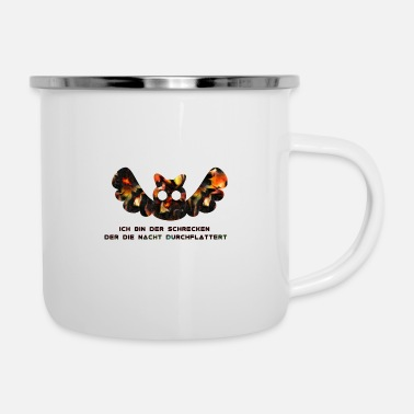 Flutter I am the terror that flutters through the night - Enamel Mug