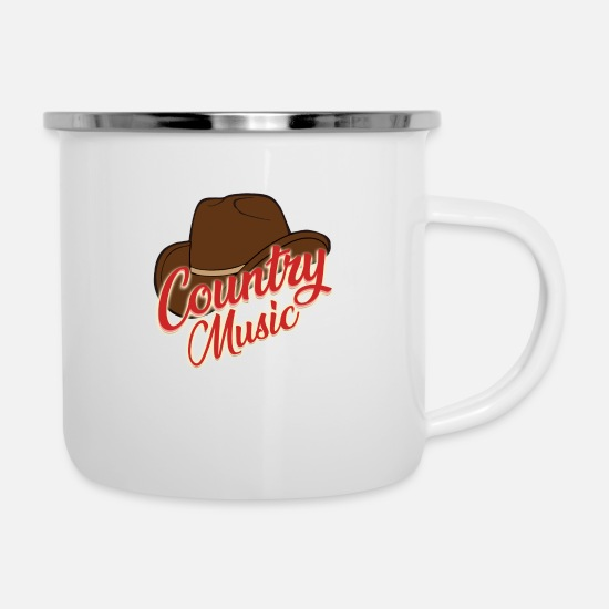Birthday Mugs & Drinkware - Country music - Enamel Mug white