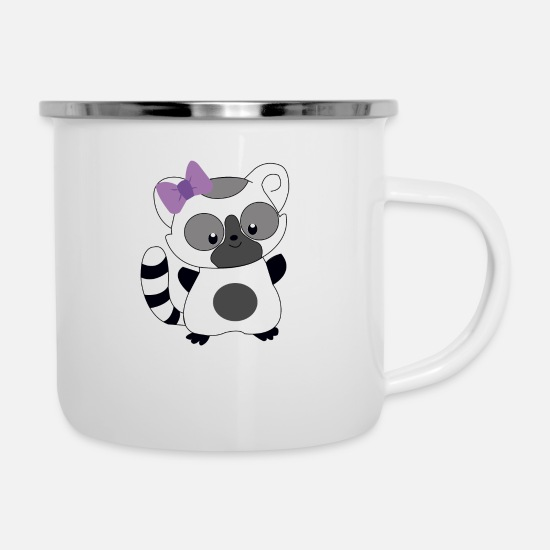 Raccoon Mugs & Drinkware - Raccoon - Enamel Mug white