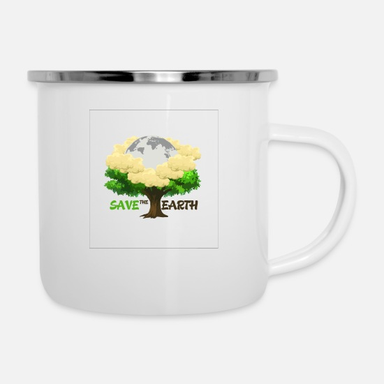 Save The World Mugs & Drinkware - nature - Enamel Mug white