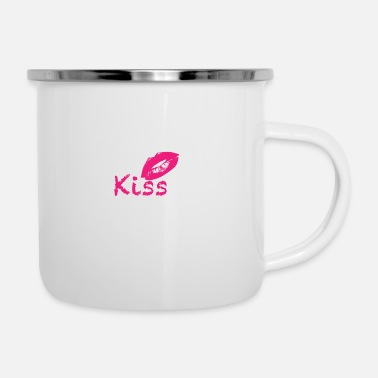 Kiss Kiss - Tazza smaltata