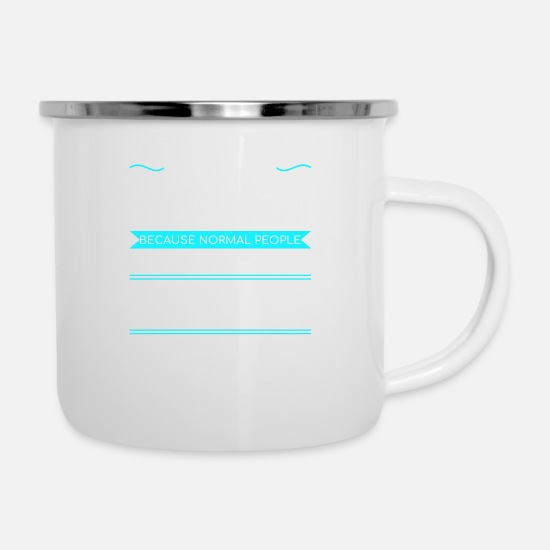 Gift Idea Mugs & Drinkware - Hiking Mountaineering Outdoor Mountains Camping Gift - Enamel Mug white