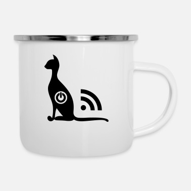 Chat Wifi ON OFF - Mug émaillé