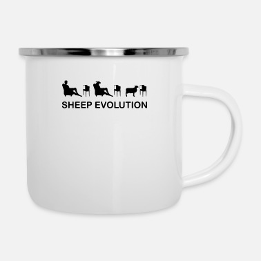 Television Sheep Evolution TV Television Brainwash T-Shirt - Emaille-Tasse