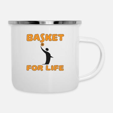 Rugby Basket for life - Enamel Mug