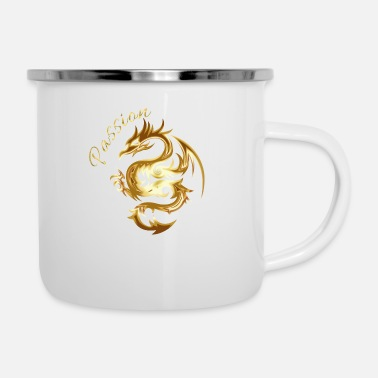 Golden Dragon Golden dragon passion logo - Enamel Mug
