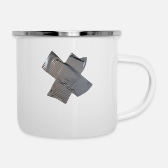Miscellaneous Mugs & Drinkware - Gaffa Tape - Enamel Mug white