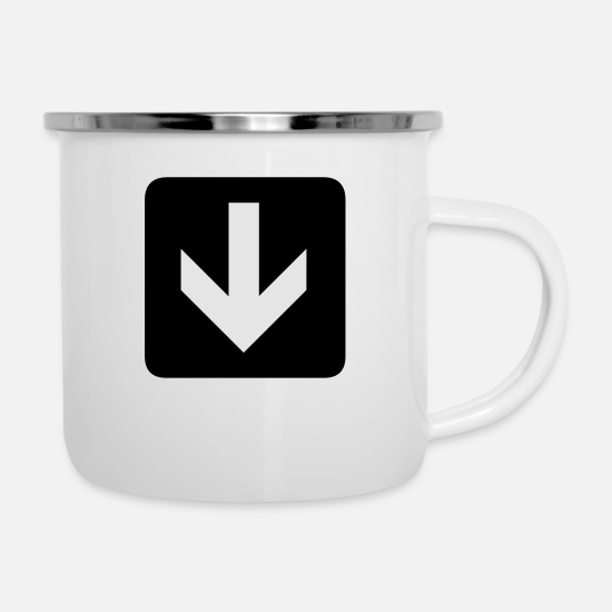 Arrow Mugs & Drinkware - This way - Enamel Mug white