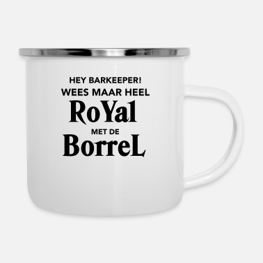 Borrel Royal met de Borrel - Emaille mok
