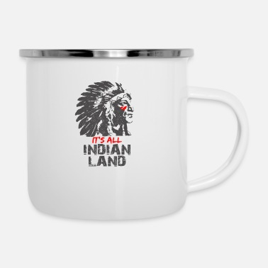 Indian Indianer - Emaille-Tasse