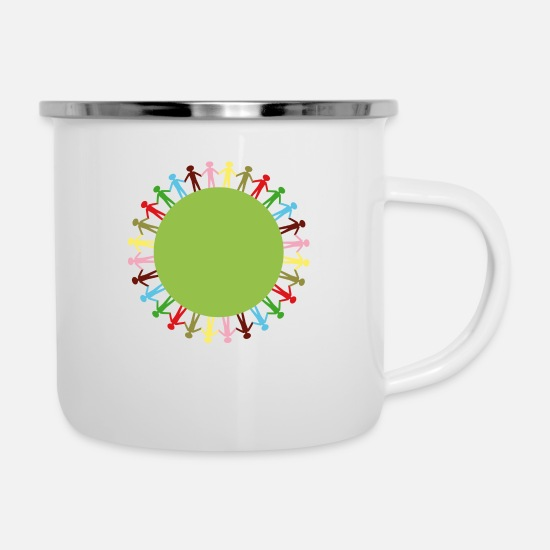 Group Mugs & Drinkware - Community Circle - Enamel Mug white