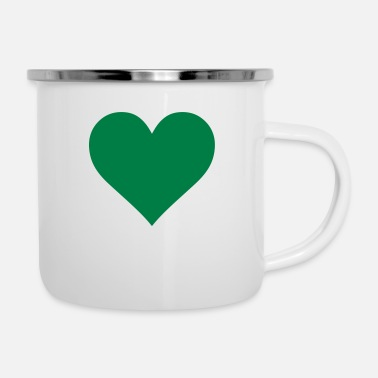 Cuore Green Heart Love - Emaille-Tasse