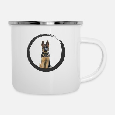 German Shepherd German shepherd - Enamel Mug